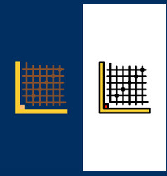 Color correction edit form grid icons flat and vector