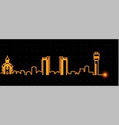 Dar es salaam light streak skyline vector