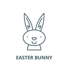 easter bunny line icon linear concept vector image