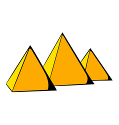 egyptian pyramids icon cartoon vector image