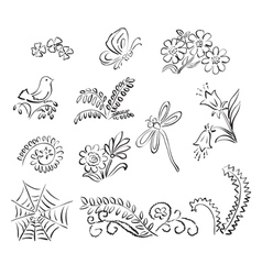 Elements of nature vector