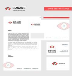 eye business letterhead envelope and visiting vector image