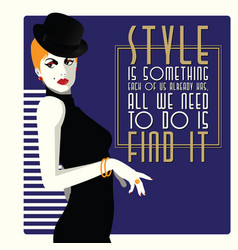 Fashion quote with woman in style pop art vector