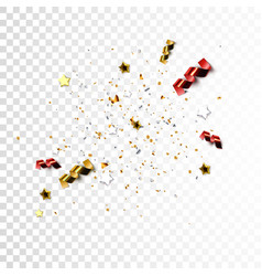 festive flying stars vector image