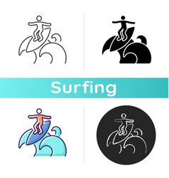 Floater surfing technique icon vector