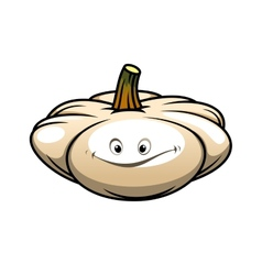 Fresh pumpkin with a happy smile vector