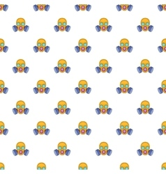 Gas mask pattern cartoon style vector image
