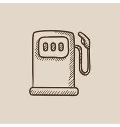 Gas station sketch icon vector image