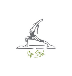 gymnastics concept sketch isolated vector image