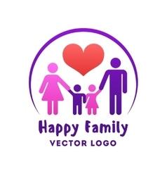 Happy family love logo vector