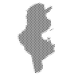 Hex tile tunisia map vector