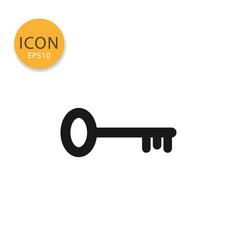 key icon icon isolated flat style vector image