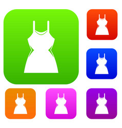 little dress set collection vector image