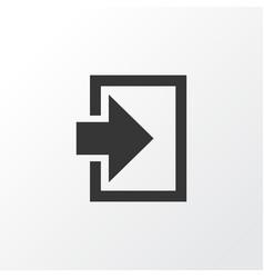 log in icon symbol premium quality isolated vector image