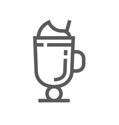 milkshake drink and beverage line icon vector image