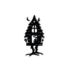 modern professional logo emblem dark hut folk vector image