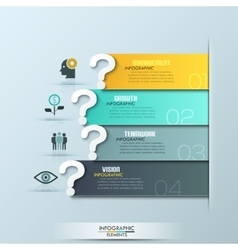 modern question ribbon infographics options banner vector image