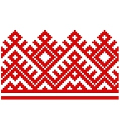ornament embroidered good like handmade cross vector image