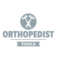 Orthopedic tool logo simple gray style vector