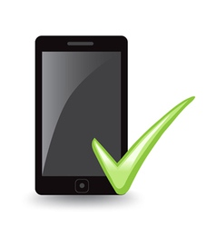 Phone Check vector image