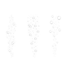 Realistic underwater fizzing air bubbles isolated vector