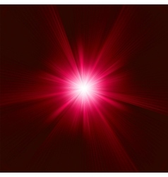 Red Star Burst background vector image vector image