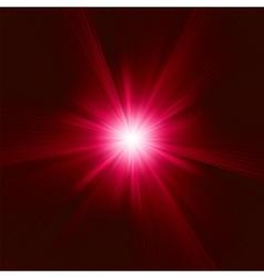 Red Star Burst background vector image