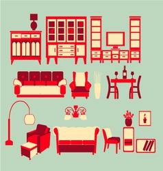 Retro Home interior vector