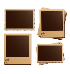 Retro photo frame isolated set vector image