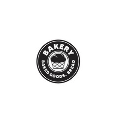 round label bakery logo vector image
