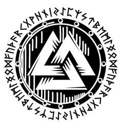 Scandinavian viking design viking shield vector