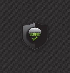 Secure check mark shield icon vector image