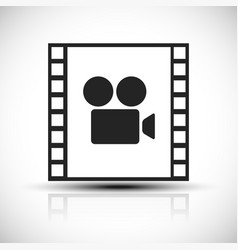 Simple concept graphic for movie movie production vector