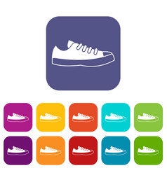 Sneakers icons set vector