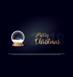 Snow globe ball new year chrismas object isolated vector