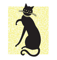 Sophisticated cat vector