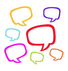 speech balloon icon vector image