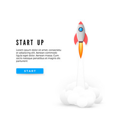 start up concept banner creative business idea vector image