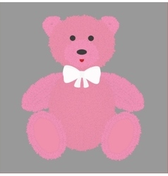 Teddy bear with pink fur vector image