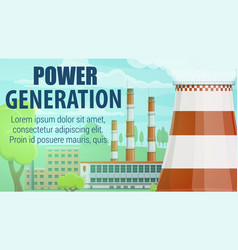 thermal power station electrical energy plant vector image