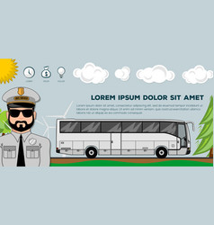 travel bus transportation banners or posters vector image
