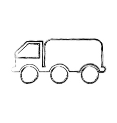 Truck oil transport isolated icon vector