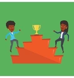 Two women competing for the business award vector