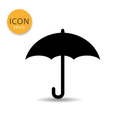 umbrella icon isolated flat style vector image