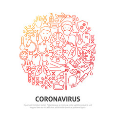 virus circle concept vector image