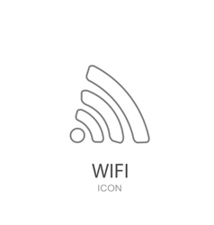 Wireless black icon vector
