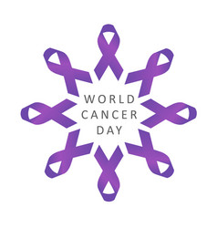 World cancer day awareness 4th february vector