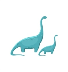 Blue Brahiosaurus Dinosaur Prehistoric Monster vector image