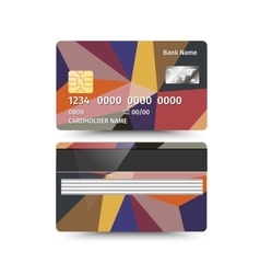 Credit Card two sides with Abstract design vector image