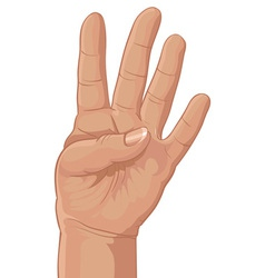 Four from fingers vector image